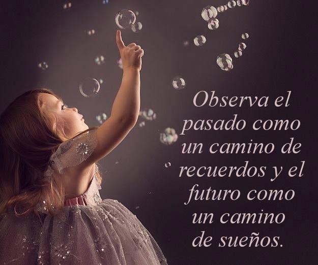 Observa el pasado como un camino de recuerdos y el futuro como un camino de sueños*