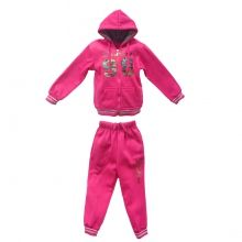 Ensemble jogging de sport pour enfant : sweat à capuche zippé avec imprimé devant et pantalon