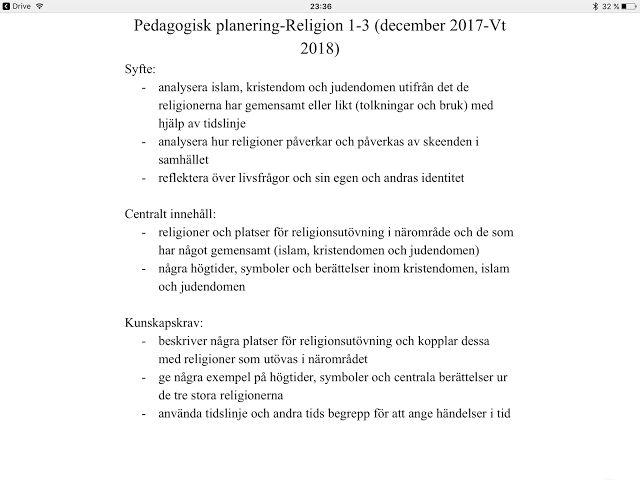 Lotsen/Vilboken: Jultema- introduktion av ämnet Religion