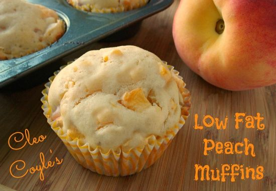 Cleo Coyle Recipes.com: Low Fat Peach Muffins from author Cleo Coyle