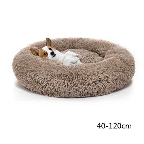 Zxllo Dog Bed Plush Soft Puppy Sofa Donut Round Cuddler Kennel Cat