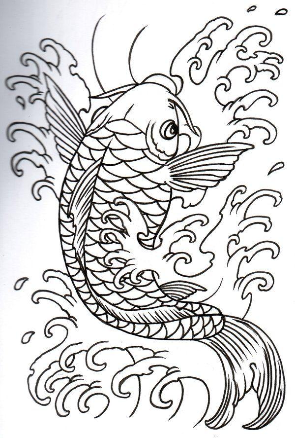 Simple Koi Fish Tattoo Design