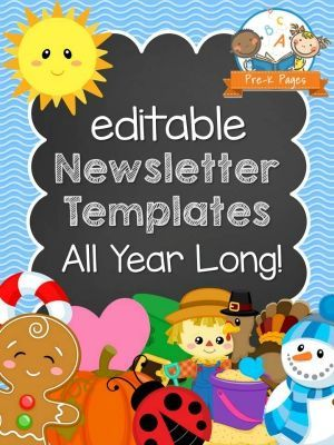 Editable Newsletter Templates for Preschool and Kindergarten. A whole year of editable newsletter templates to keep your parents informed!