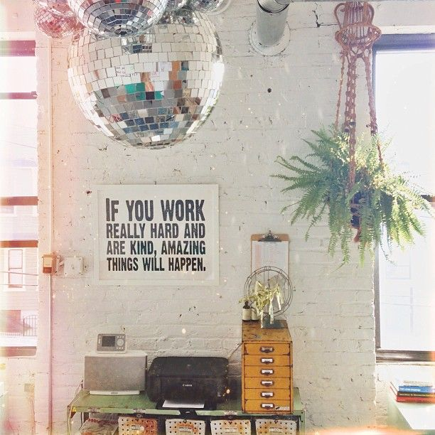 Disco Hanging Plants And A Conan Quote