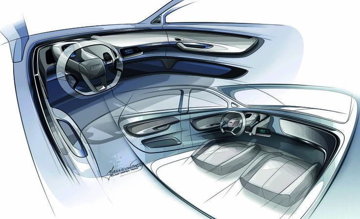 Photo Audi A2 Concept croquis habitacle