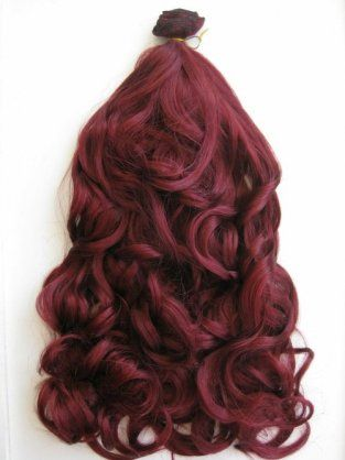 £14.99 – Red, wavy, clip in extensions, Full head…