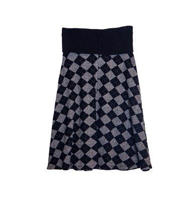 Flare fit midi knit skirt