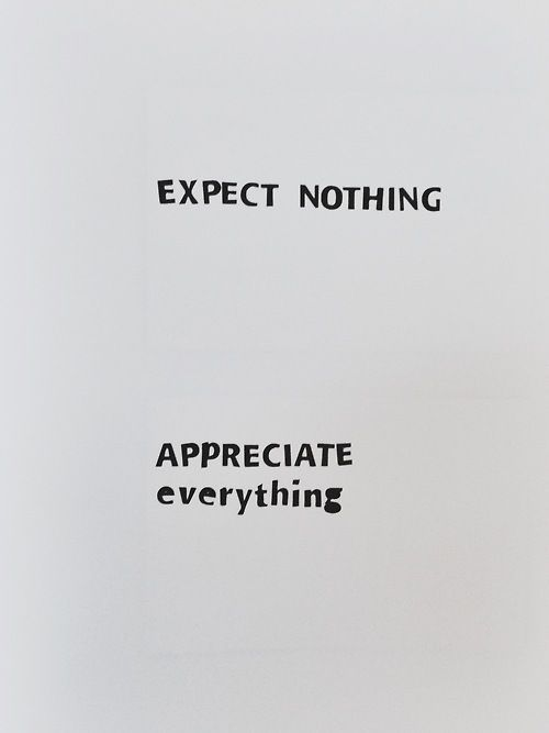Lower the expectations, enjoy surprises