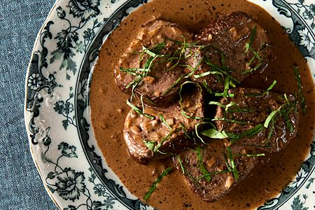 Venison Steak Diane by Hank Shaw, using the backstrap of venison, the most tender parts. Delicious!