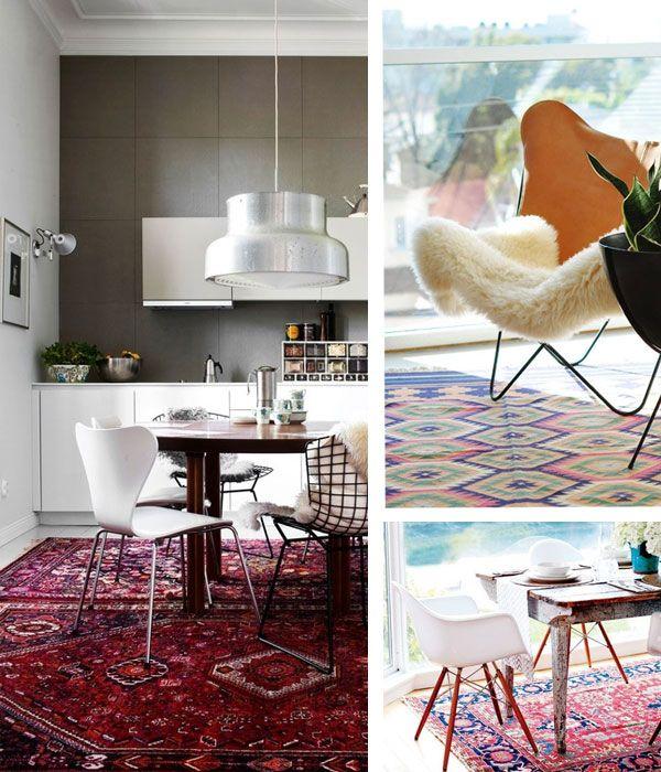 56 Best Living Dining Room Inspiration Around A Kilim Rug Images