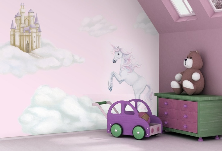 39 Pink Unicorn 39 Wallpaper By Inspire Murals Available At Unicorn Nursery Theme