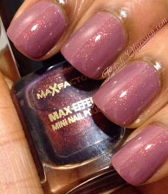 Polish Obsession: Soo - Miracle Touch with Max Factor Fantasy Fire #nailpolish #shimmer