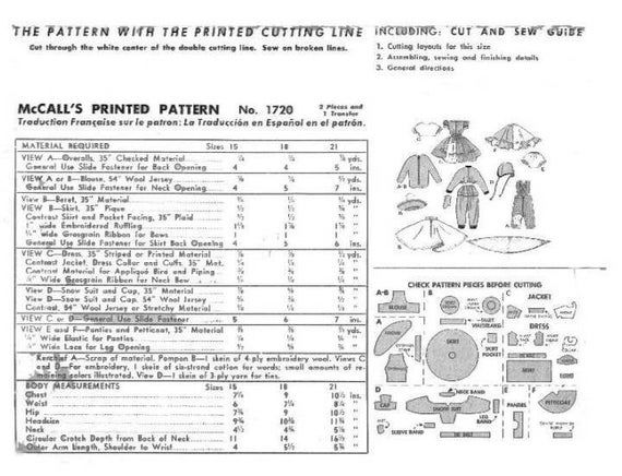 Pdf Doll Clothes Sewing Pattern Sweet Sue 15 Inch Doll Clothes