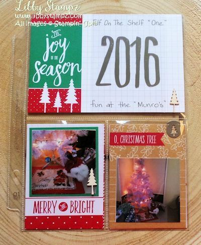 """Project Life - Hello December 2016 I made some 6″ x 8″ pages featuring 'Elf On A Shelf"""" named 'One""""."""