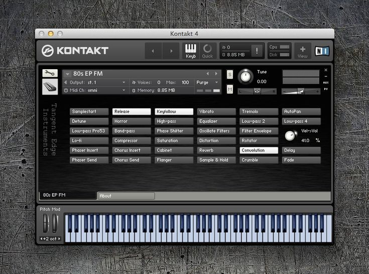 KVR: Tangent Edge Instruments releases 80s EP FM Free - FM Roads style DX7 EP for Kontakt