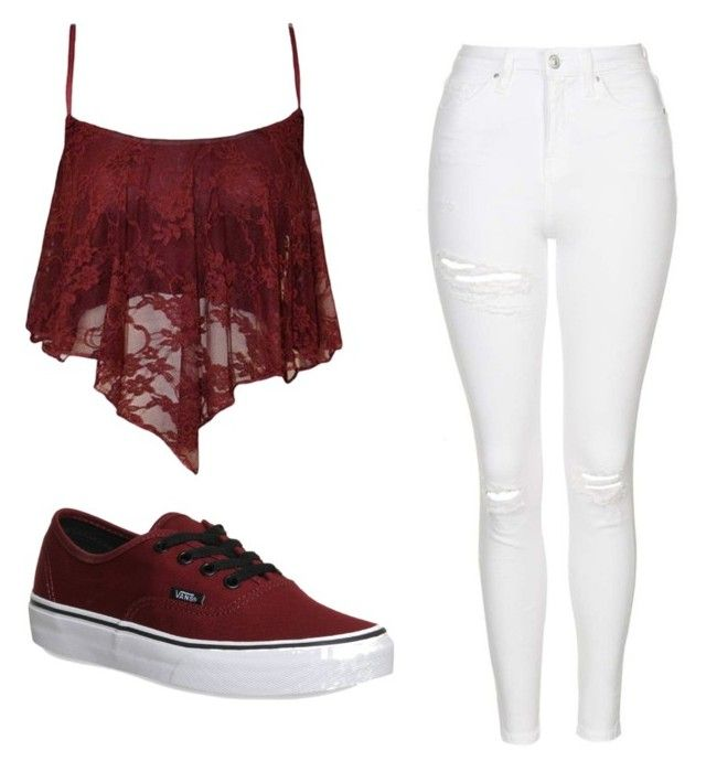 """""""Cute!!"""" by jillian-sage ❤ liked on Polyvore featuring Topshop and Vans"""