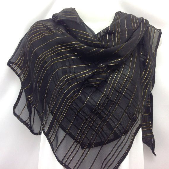 Check out Black Square Shawl, Black Scarf, Holiday Gift for Mother, Religious Black Scarf, Gift for Coworker Birthday on blingscarves