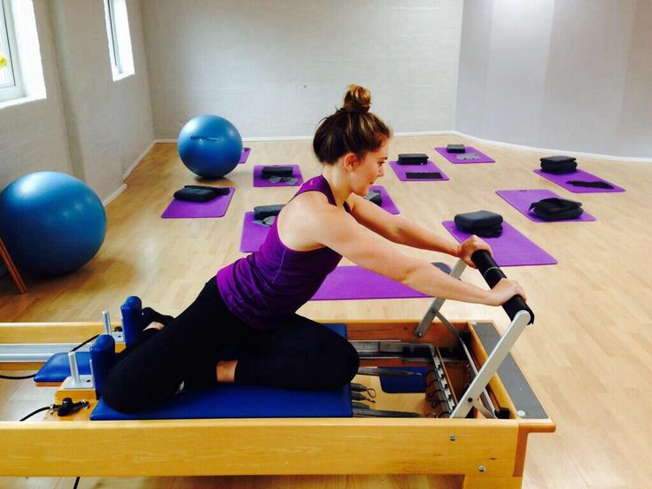 Olympic cyclist Jess Varnish goes through her Pilates reformer routine at The Physio & Pilates Centre, Wilmslow