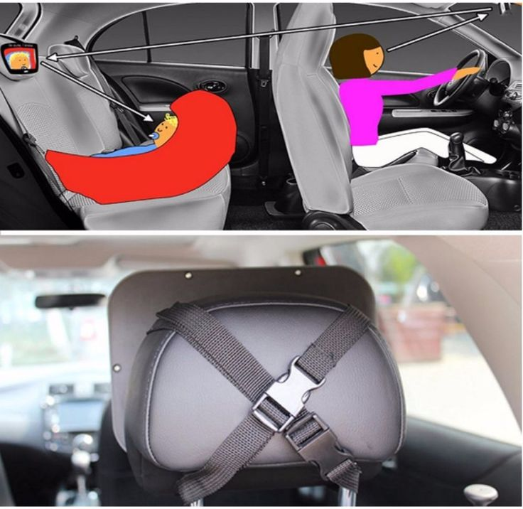 Baby Mirror For Car Seat Rear Facing Infant Headrest View Free Toy and Cloth…