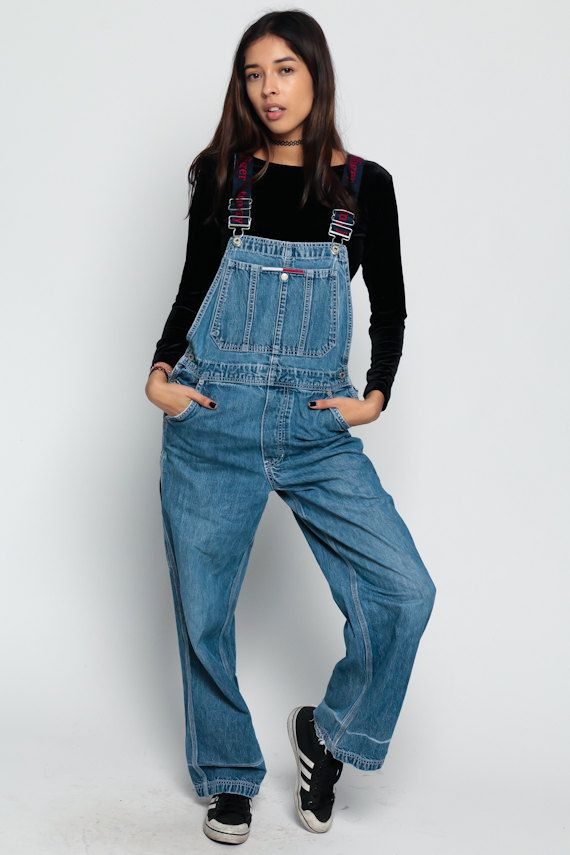 a21b5f7d63b Tommy Overalls Pants TOMMY HILFIGER Women 90s Denim by ShopExile ...