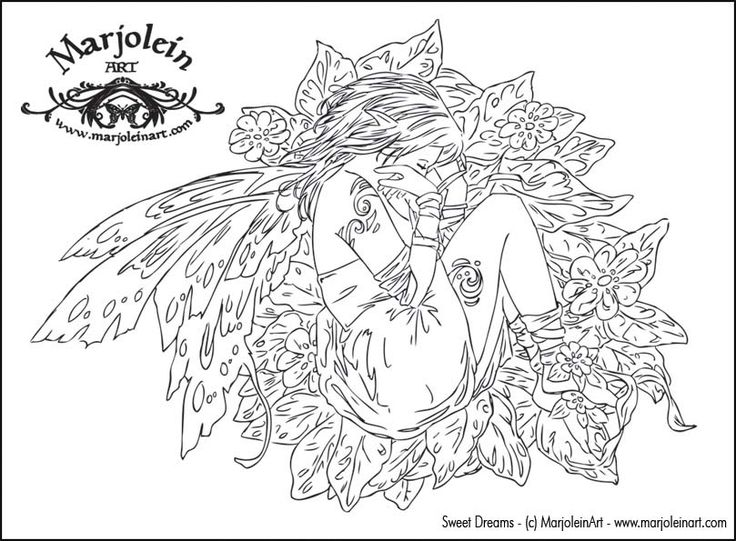 detailed coloring pages for adults enchanted designs fairy mermaid blog