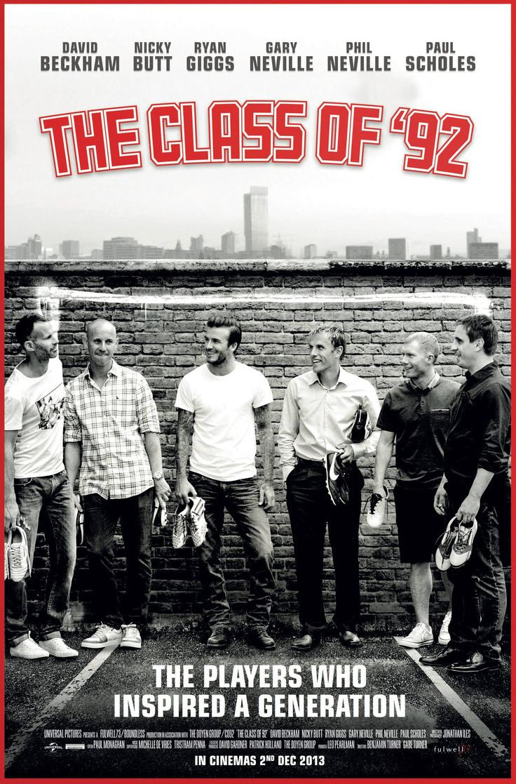 "Manchester United ""The Class of 92′"" Documentary Poster!! www.footballvidepiture.com"