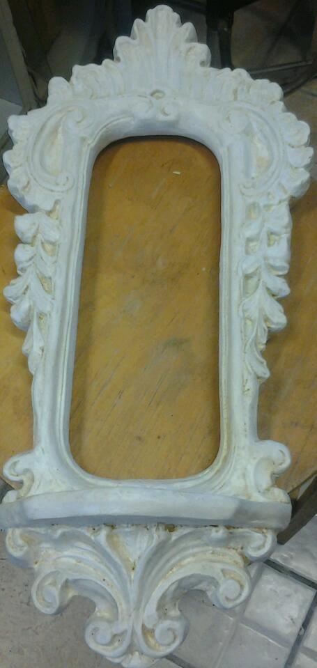 cornice specchio con invecchiatura a velatura