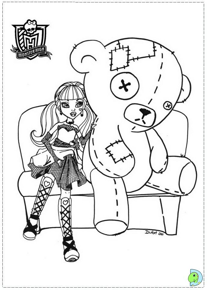 monster high coloring page  coloring books coloring