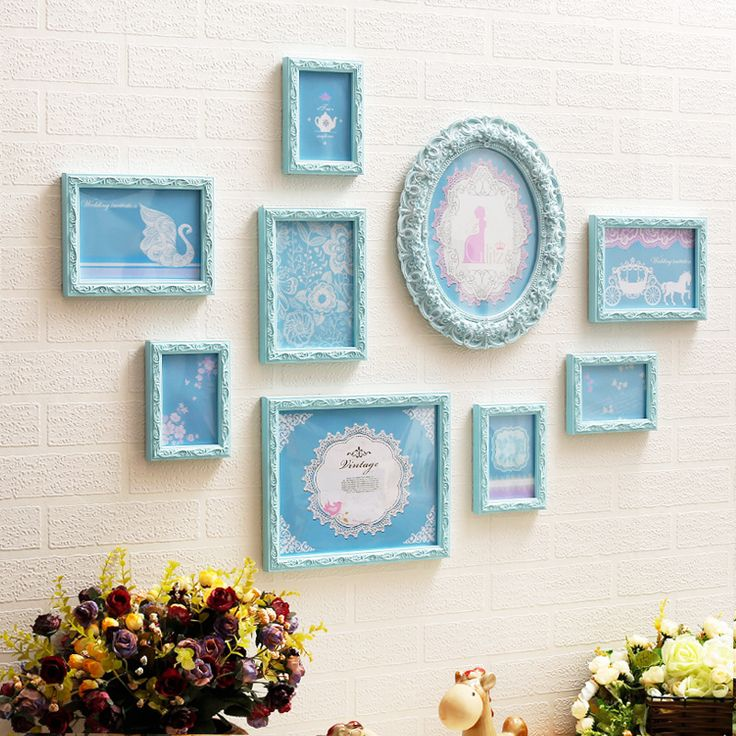 Find More Frame Information about New 9pcs Baroque Mediterranean Style Decorative Wall Collage Wedding Photo Frame Romantic Picture Set Carved Vintage ,High Quality framed art home decor,China frame album Suppliers, Cheap frame silk from Handicraftsman on Aliexpress.com