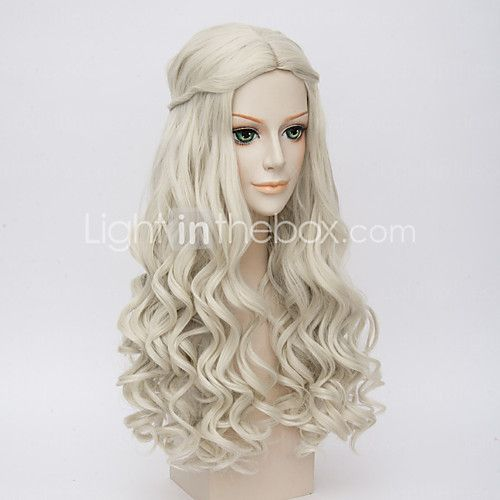 Alice in Wonderland Movice White Queen Cosplay Halloween Natural Centre Parting Wave Costume Wig Anne Hathaway's Wigs - USD $18.89
