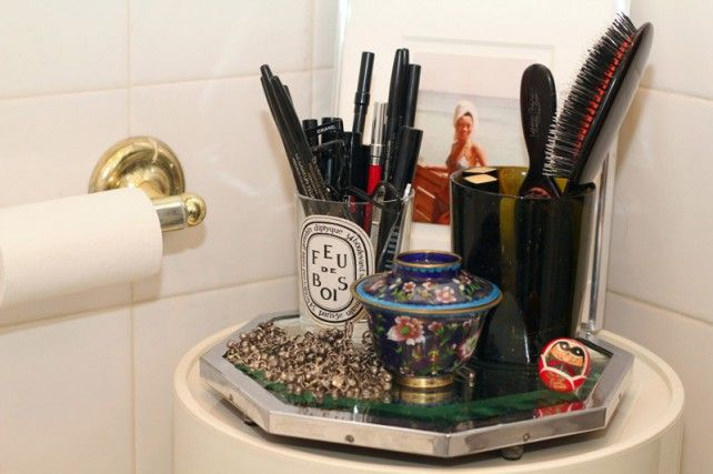 Used candles as brush holders: Organization, Makeup, Jen Brill S, Beauty, Gloss, Bathroom, Hair