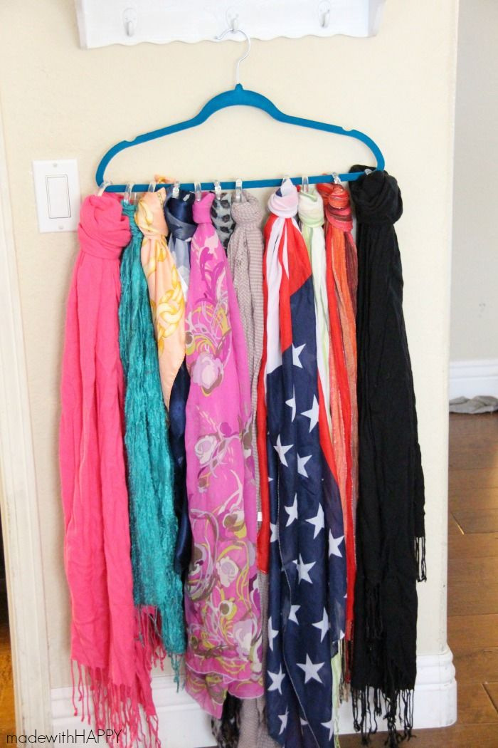 Best 25+ Organizing scarves ideas on Pinterest