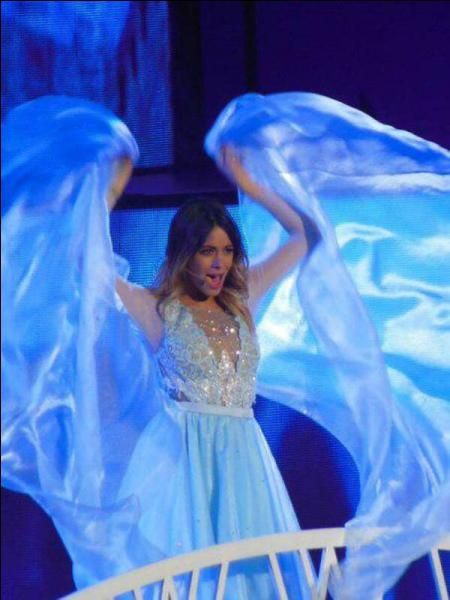 Martina stoessell at violetta live performing libre soy