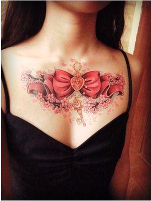 Sailor Moon Sakura Transformation Bow Large Tattoo Sticker