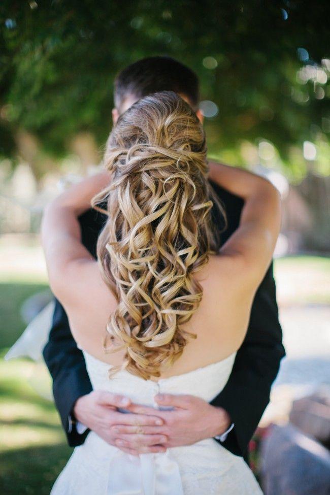 Ashley Gain Weddings Bride Hair Style Curled