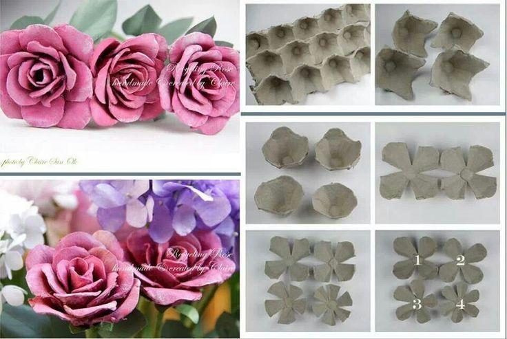 roosjes maken van eierdoos - Google zoeken