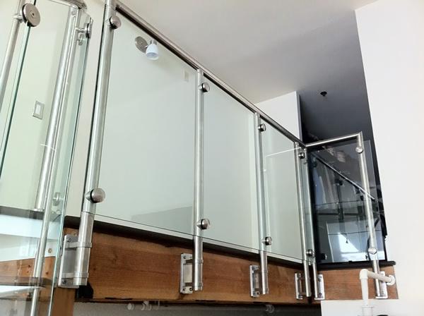 Modern glass railings for home.
