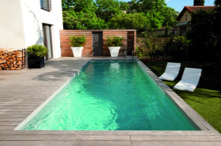 17 meilleures id es propos de liner pour piscine sur pinterest liner piscine margelle et for Liner noir piscine