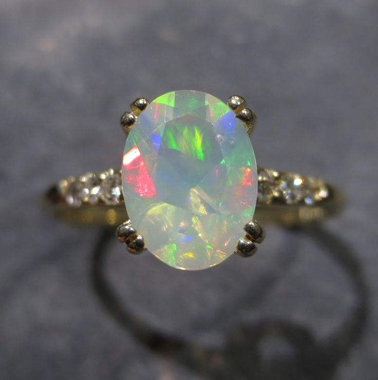 294 best ethiopian opals jewelry images on pinterest opal genuine ethiopian opal ring w diamond accents size solid gold birthstone jewelry mozeypictures Choice Image