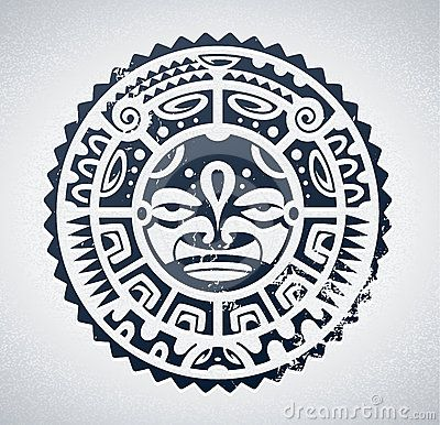 Set Of Polynesian Tattoo Styled Masks Stock Photography - Image: 31423542