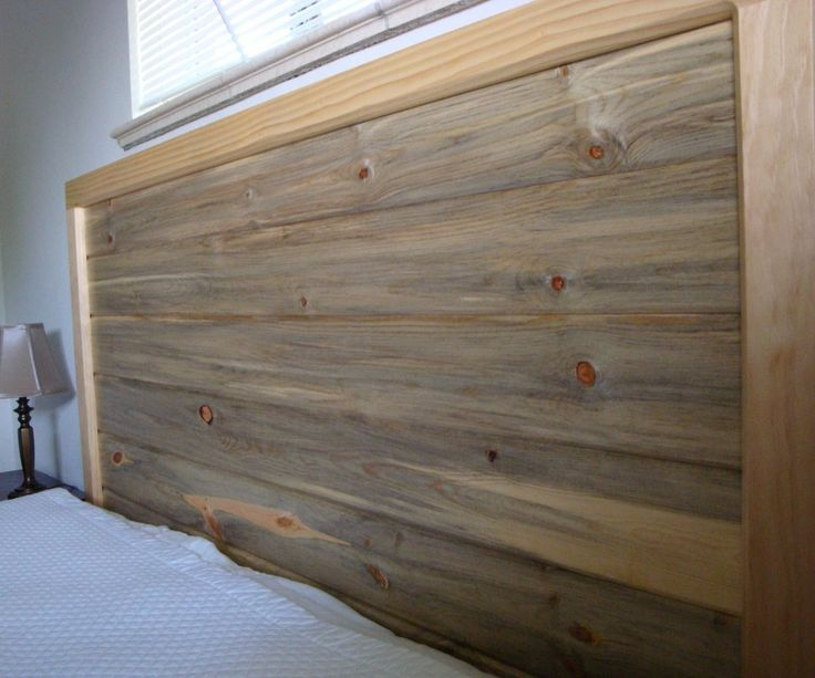 I made this headboard to highlight the beetle kill pine without looking like it belonged in a log cabin.The frame is designed to be used with a low profile queen size box spring (about 6 inches tall).Materials:Headboard Only1in x 3in x 6ft Select Pine Boards (Qty: 3) $242in x 2in x 8ft Select Pine Boards (Qty: 4) $361in x 8in x 6ft Select Pine Boards (Qty: 1) $131x6 Blue Stain Tongue and Groove $20 (I needed 8 slats, which could be cut from 4 10 foot pieces, but I used 8 8 foot pieces. There…