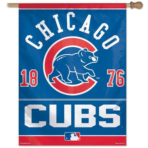 "Chicago Cubs 27"" x 37"" Team Banner Vertical Flag  #ChicagoCubs #Cubs #FlyTheW #MLB #ThatsCub"