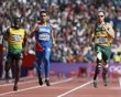 South Africa's Oscar Pistorius (R), Luguelin Santos (C) of the Dominican Republic and Jamaica's Rusheen McDonald run in their men's 400m round 1 heat at the London 2012 Olympic Games at the Olympic Stadium August 4, 2012. REUTERS/Lucy Nicholson - http://www.PaulFDavis.com/success-speaker (info@PaulFDavis.com)