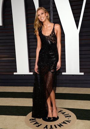 Jennifer Lopez Stuns In See-Through Gown At Vanity Fair Oscar Party KARLIE KLOS