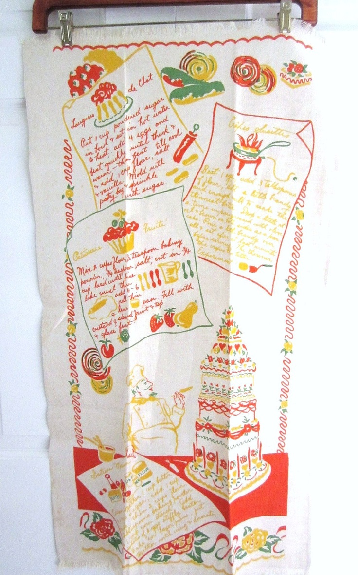 186 best Vintage Kitchen Towels images on Pinterest | Tea towels ...
