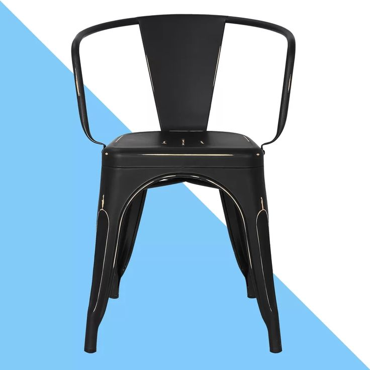 Chelsea tufted metal slat back stacking arm chair in 2020