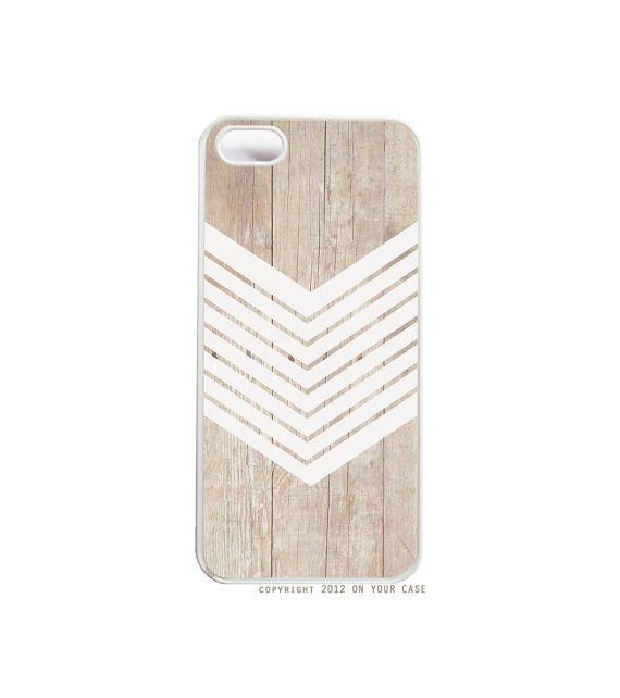 iPhone 5 Case Wood Geometric White Minimalist