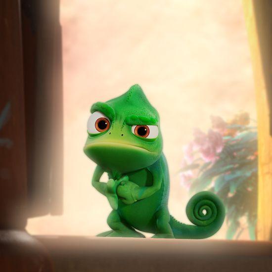 ディズニー・ラプンツェルの参考イラスト♡ラプンツェルの唯一のお話し相手パスカル♪