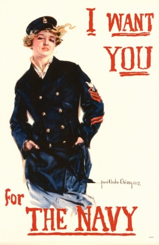 US, 1917  navy  poster  boat woman