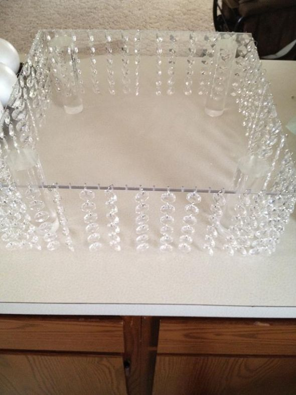 My bling cake stand :  wedding bling cake cake stand diy reception white Cake2